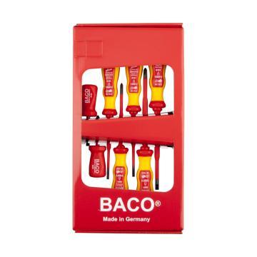 巴可BACO 電工絕緣一字十字細頭改錐組套,7件套,8061-S02