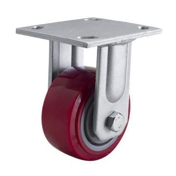 易得力(EDL) 定向高强度聚氨酯(TPU)脚轮,脚轮重型4寸350kg,70104-704-86