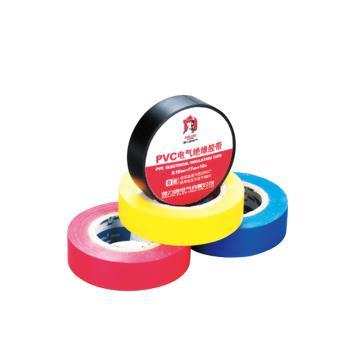 德力西DELIXI PVC阻燃胶带 0.15mm*17mm*20m 黑,PVCZR0151720B