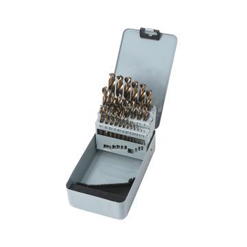 Raxwell 全磨制M35含钴高速钢直柄麻花钻组套,1-13mm,25支装,RTHD0205