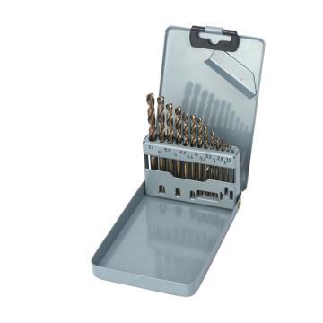 Raxwell 全磨制M35含钴高速钢直柄麻花钻组套,1.5-6.5mm,13支装,RTHD0203