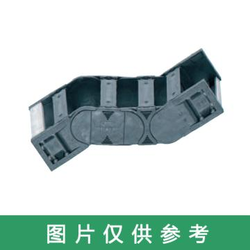易格斯igus 拖管接頭,E4.1L|R4.48L系列,內寬100,固定接頭,預裝,偶數鏈節,R4.481.100.2.12A
