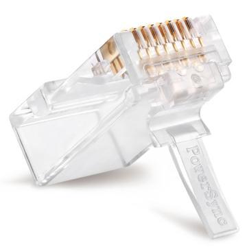 包尔星克Powersync 20入Cat.6网路水晶接头 三叉(3u)两件式,APT620TC