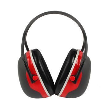 3M 耳罩,X3A,头戴式 红黑
