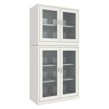 西域推荐 实验室药品柜,上下两层型,全透视窗,CH-19-08N(1个),CC-3223-04,运费需另算