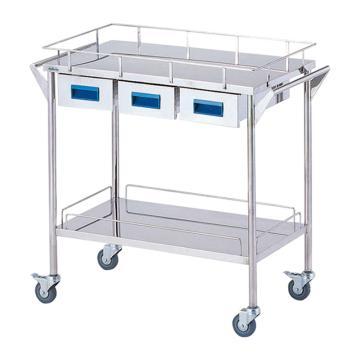 亚速旺 实验室仪器设备配套移动车,不锈钢(SUS304,高洁净度),CHW-2H,C8-7466-03