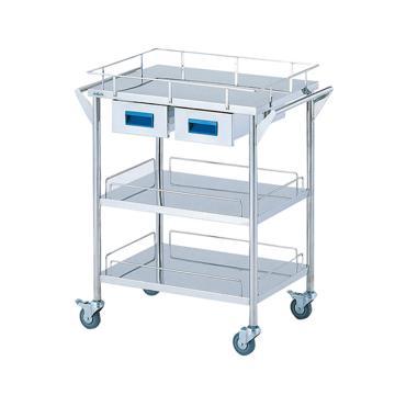 亚速旺 实验室仪器设备配套移动车,不锈钢(SUS304,高洁净度),CHS-3H,C8-7466-02