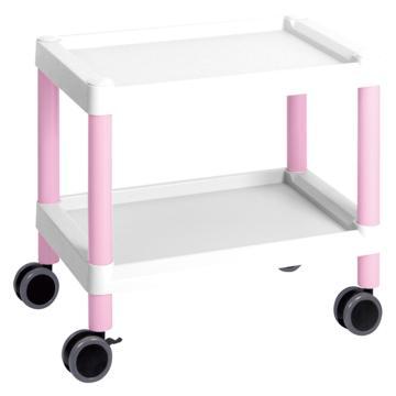 亞速旺 實驗室儀器設備配套移動車(低地板型),全塑料結構,防磕碰,645×447×492mm,MC20(粉紅色),3-6503-02