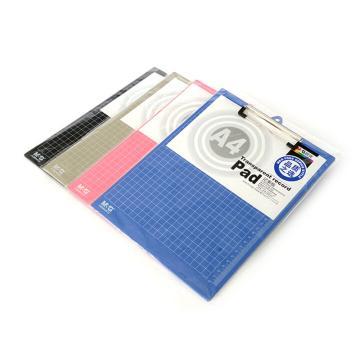 晨光 M&G 塑料板夾,ADM94510 A4 豎式 (紅/藍/黑/灰,顏色隨機) 單位:塊