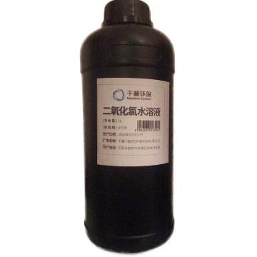 千藤 二氧化氯水溶液,防疫消毒液,安全可噴灑,綠色無毒無殘留,1L/瓶