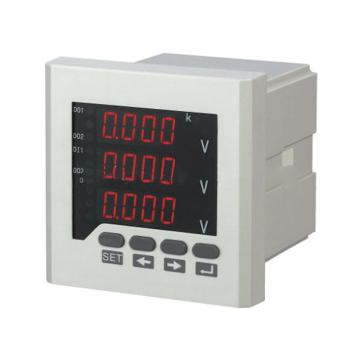 浙力电气 多功能电力仪表,CYED-3E1 安装尺寸110*110 面板尺寸120*120 开孔尺寸111*111 数码显示