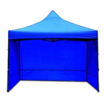 西域推薦 戶外遮陽救災帳篷,3×3米,三面圍布,藍色