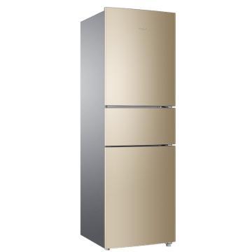 海尔 216L三开门小型迷你冷冻冷藏节能冰箱,BCD-216WMPT,风冷无霜,带软冷冻