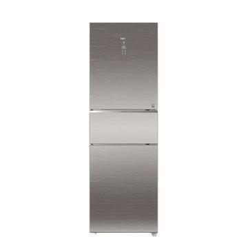 海尔 256L大容量三门冷冻冷藏冰箱,BCD-256WDGR,风冷无霜,干湿分储,一级能效,节能静音