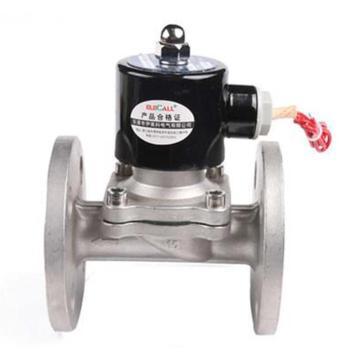 伊莱科 法兰式不锈钢304电磁阀,DN50,AC220V