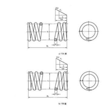 西域推荐 普通圆柱螺旋压缩弹簧,GB 2089-2009-1.8*10*55-65Mn-氧化