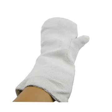 西域推荐 石棉手套,分指式,长450mm,白色,均码