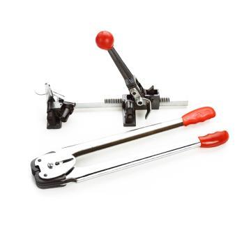 西域推薦 經濟型PP手動拉緊器+咬扣器,適用材質PP,適用打包帶寬度:12mm-16mm