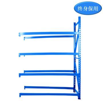 Raxwell 4层中型货架副架(2板3加强筋),500kg,尺寸(长*宽*高mm):1800*600*2000, 蓝色,包安装