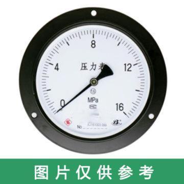 上儀 壓力表Y-63,碳鋼+銅,軸向前帶邊,Φ60,0~16MPa,M14*1.5