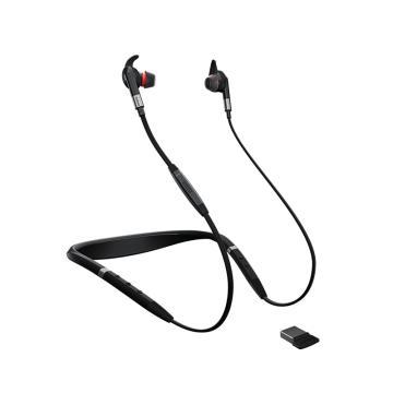 捷波朗(JABRA)EVOLVE 75E USB 無線耳機 音樂耳麥降噪可調節音量大小 連電腦/手機