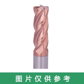 株洲钻石 合金四刃圆鼻铣刀,D10*R0.75*20*70*D8 KMG303