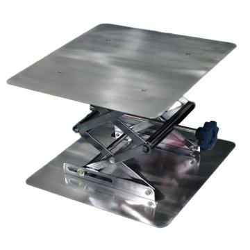西域推荐 实验室用手动调节升降台,304不锈钢,平面尺寸300*300mm,调节高度33cm,1台