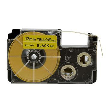 普貼 色帶,PT-12YW黃色 12mm
