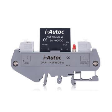 艾奥控 iAutoc 固态继电器 DRA-1-KSF 100VDC 5A 4-32VDC 9/盒