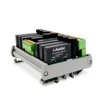 艾奥控 iAutoc 固态继电器 DRA-8-KSD 480VAC 5A 4-32VDC 8个继电器模组
