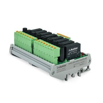 艾奥控 iAutoc 固态继电器 DRA-8-KSL 200VDC 5A 4-16VDC 8个继电器模组