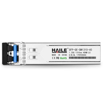 海乐Haile 千兆单模双纤光模块1.25G,SFP-GE-SM1310-40