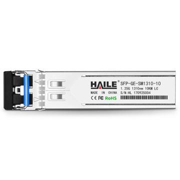 海乐Haile 千兆单模双纤光模块1.25G,SFP-GE-SM1310-10