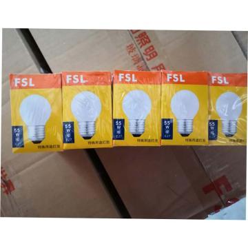 佛山照明 特殊用途球形燈泡,55W,220V,E27,100個/箱,磨砂,單位:箱
