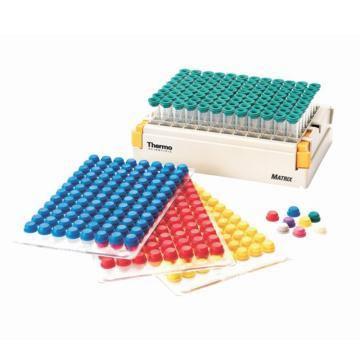 Thermo Scientific Matrix SepraSealmats,紫色,10垫/箱,96盖/垫,1箱
