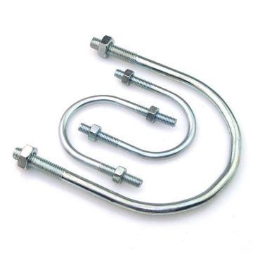 西域推薦 U型螺栓帶2個螺母,M10-60,2寸,鍍鋅