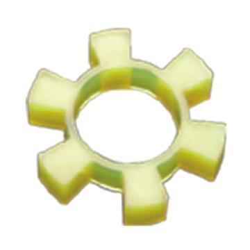 西普力 T梅花型聯軸器彈性緩沖墊,黃色,T40
