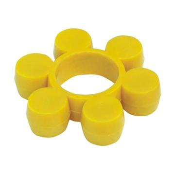 西普力 MT梅花型聯軸器彈性緩沖墊,黃色,MT3