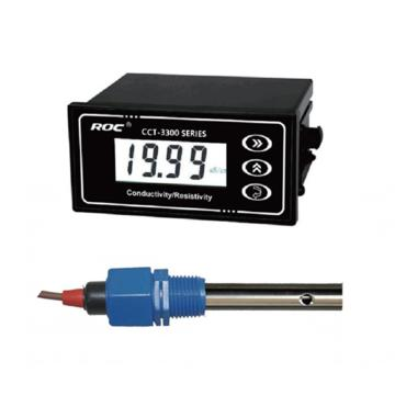 科瑞達 電導率/TDS在線分析儀,CCT-3300E配CON3134-14 電源DC24V 1.0~2000μS/cm 5m線