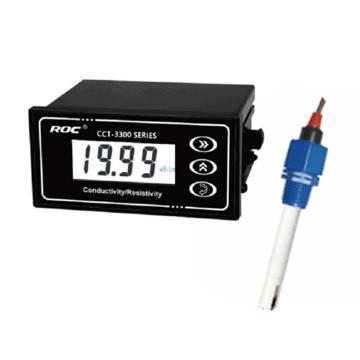 科瑞达 3320V电导率/TDS在线分析仪,CCT-3320V配CON1134-13 1.0塑料电极 3m线 0-2000us/cm
