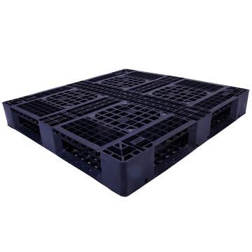 西域推荐 田字网格托盘,改性HDPE,1100*1100*150mm,静载3T,动载0.8T,TK1111TW-C,黑色