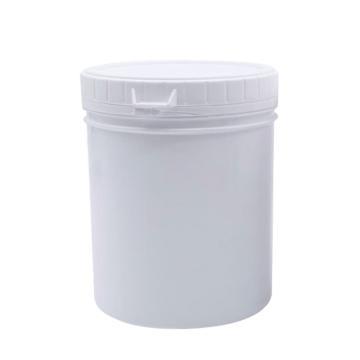 安賽瑞 廣口塑料瓶(1L),易開罐分裝瓶直桶涂料油墨罐塑料食品罐儲藏包裝罐 白色
