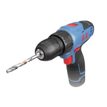 东成充电式电钻,夹持能力10mm,35Nm,10.8V 2.0Ah电池 两电一充,DCJZ1201E型