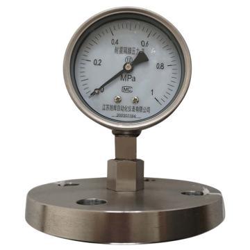 旭仪 不锈钢耐震隔膜式压力表,Y-150BF/Z/MF(B)/HC/F4/DN50 PN1.0