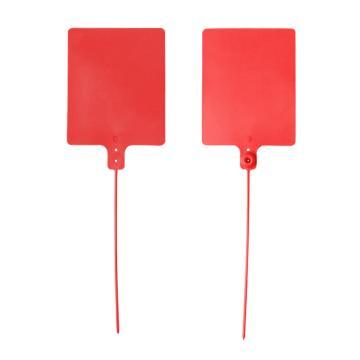 安赛瑞 物流大吊牌,物流挂签,封条封签扎带(100根装)红色