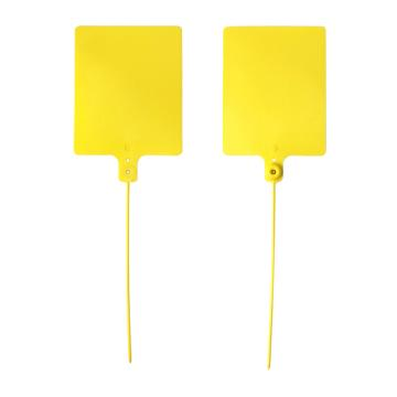 安赛瑞 物流大吊牌,物流挂签,封条封签扎带(100根装)黄色