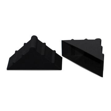 安賽瑞 三角形塑料護角包角,防碰撞塑料護角,黑色,尺寸:50×50×22mm(200個裝)