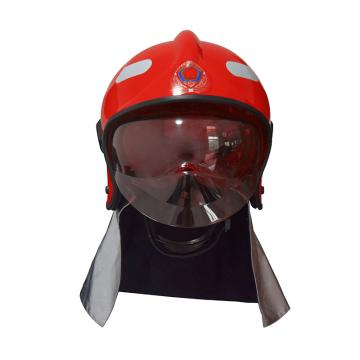 東安 F1式全盔消防滅火防護頭盔(含燈架和強光手電),3C認證,紅色,FTK-Q/F