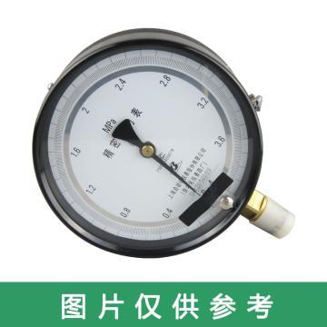 上仪 精密压力表,YB-150 0-0.6MPa0.4级碳钢外壳铜接头M20*1.5