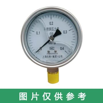 上仪 不锈钢耐震压力表,Y-150BFZ 0-4MPa M20*1.5,0--570Psi
